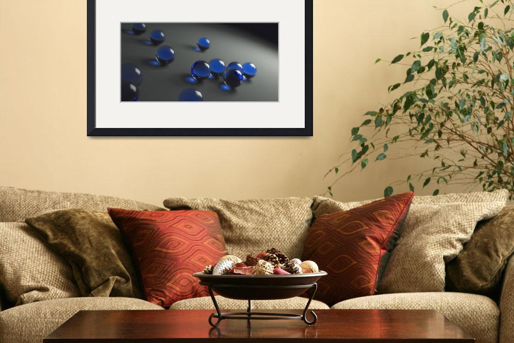 """Blue Marbles&quot  by Matt"