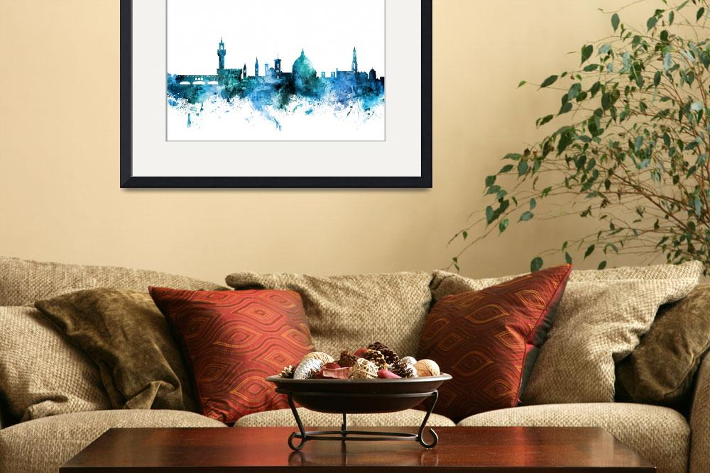 """Florence Italy Skyline&quot  (2018) by ModernArtPrints"