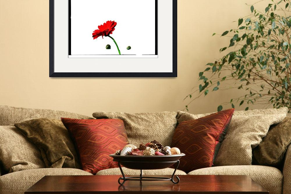 """""""Red Flower&quot  (2012) by 2DogsDesign"""
