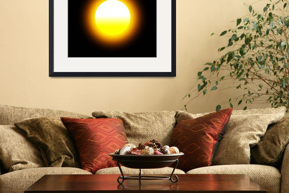 """""""Glowing Sun&quot  (2014) by MarilynsArt"""
