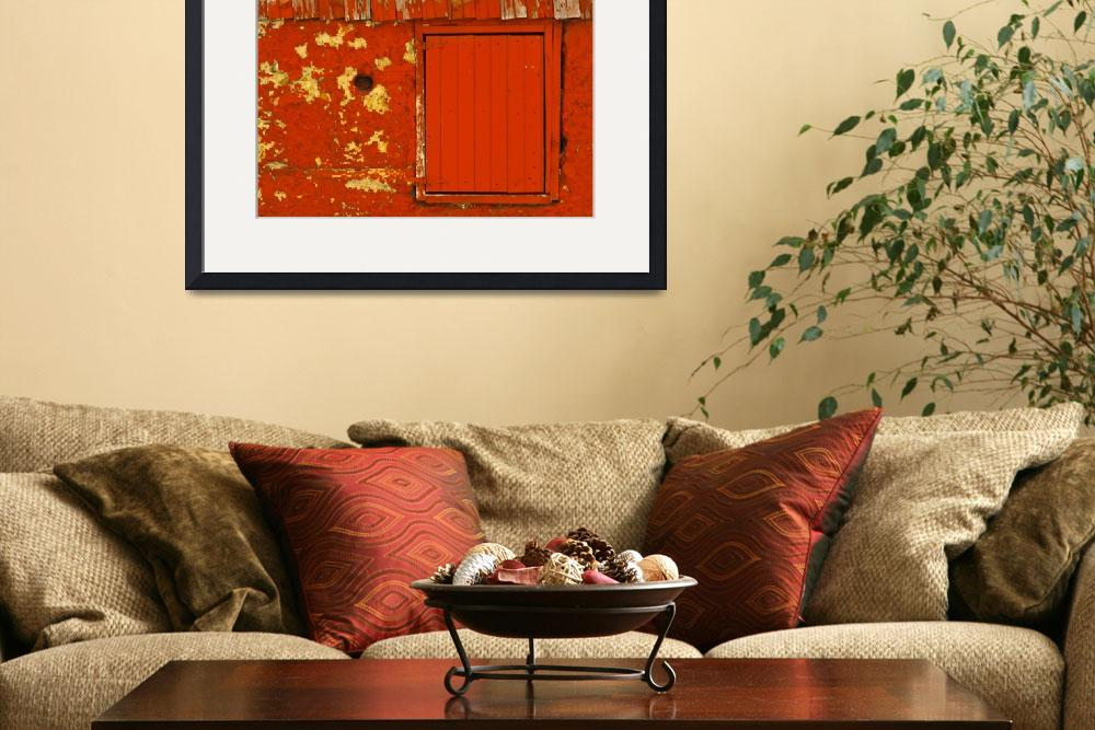 """""""red barn window""""  (2010) by poetryoflight"""