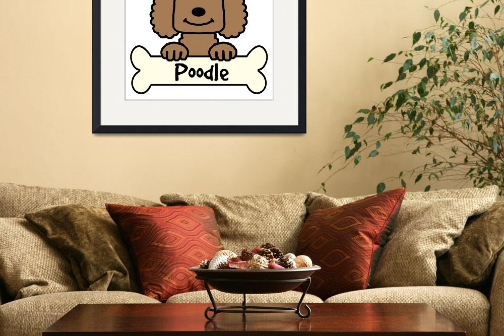 """""""Chocolate Poodle""""  (2010) by AnitaValle"""