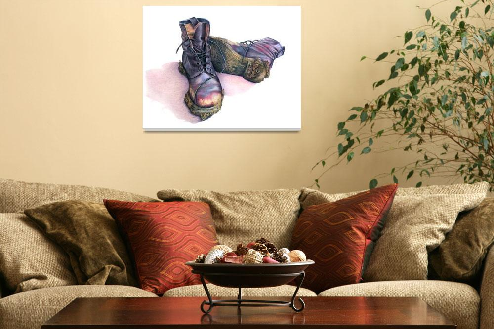 """Muddy Boot Study&quot  by JoBradney"