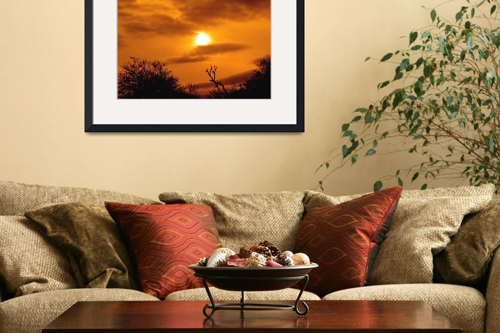 """""""Sun Going Down on a South African Horizon&quot  (2009) by JonathanCJPhoto"""