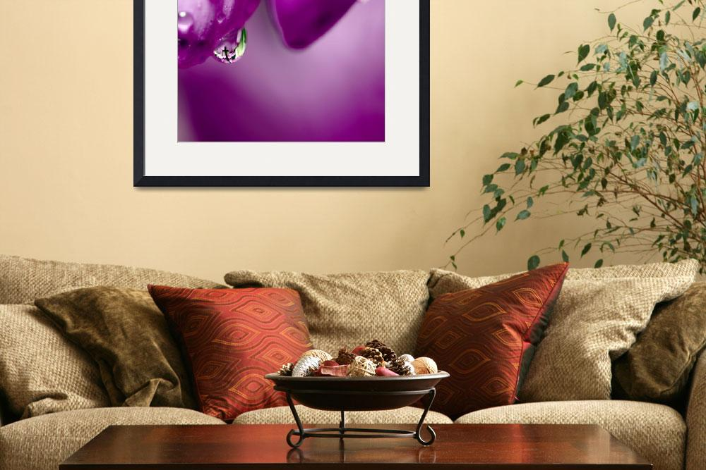 """The Cross in Reflective Purple Water Drop&quot  (2011) by LauraM"