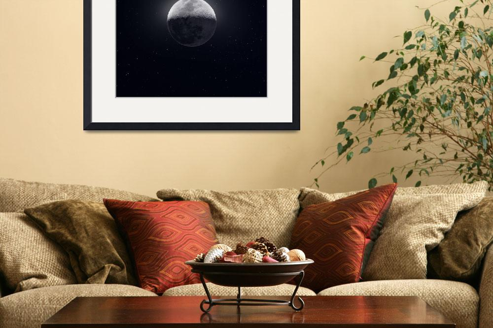"""""""Our Moon in High Definition"""" (2019) by cosmic_background"""