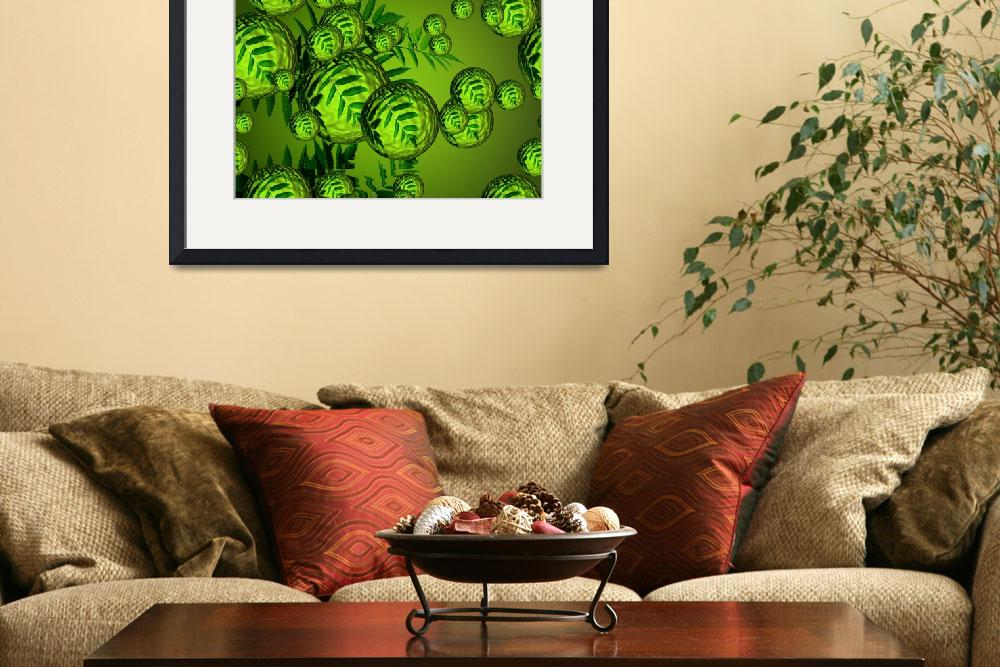 """""""Green Leaves Bubbles""""  (2010) by gabii40"""