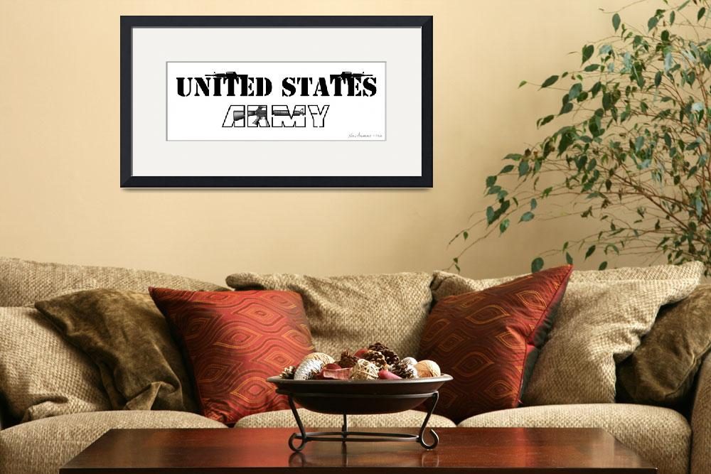"""""""United States Army Design Drawing""""  (2010) by NadiaAbuhakmeh"""
