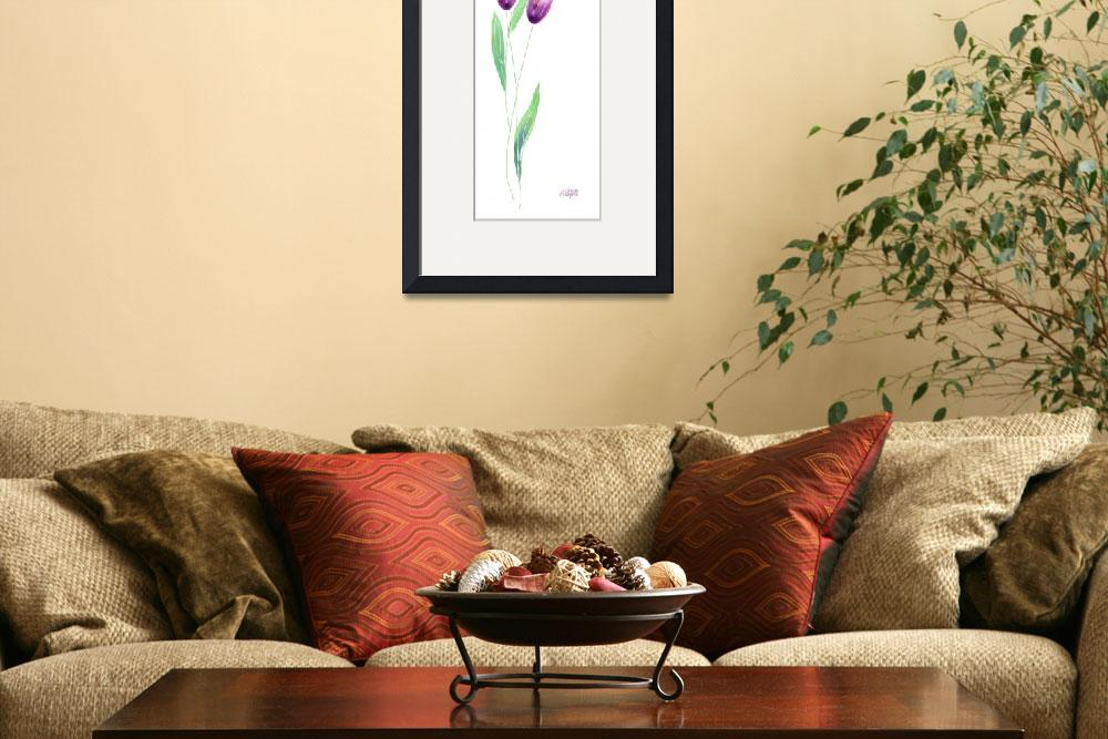 """""""Simple Purple Tulips&quot  (2002) by awagner"""