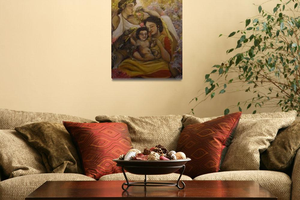 """""""Divine Family of Aristaios&quot  (2011) by hellenicspiritarts"""