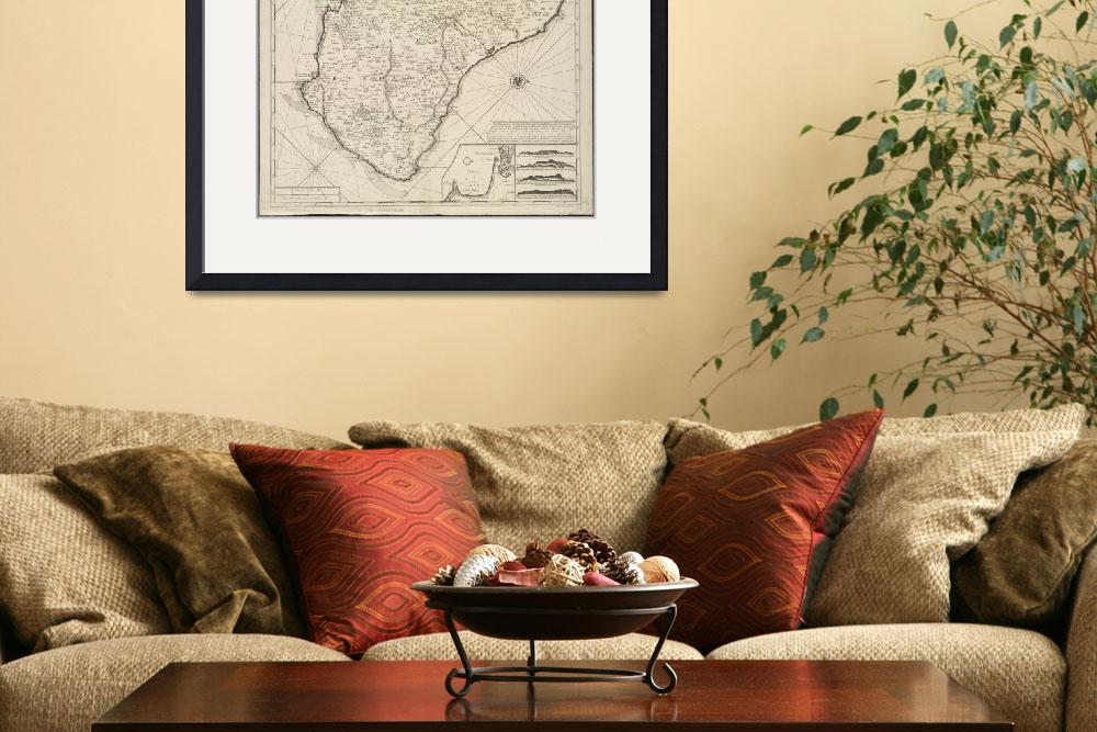"""""""Vintage Map of Barbados (1725)&quot  by Alleycatshirts"""