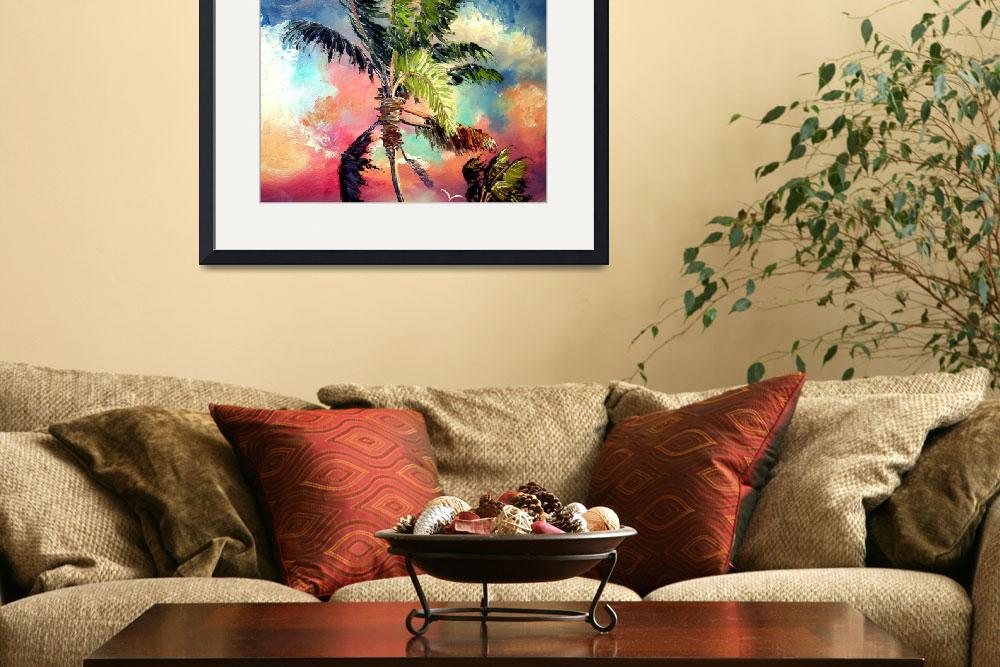"""Palette knife Palm Tree&quot  (2008) by mazz"