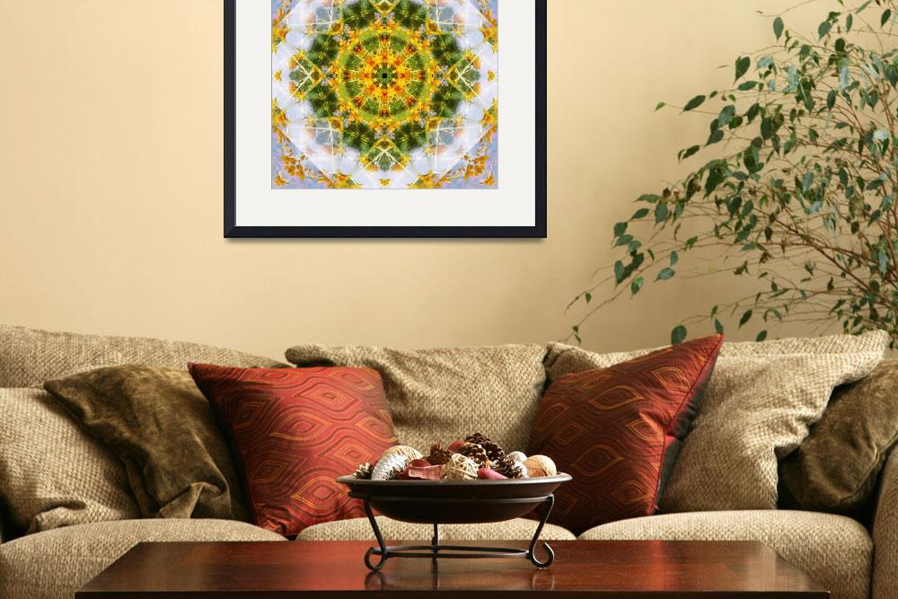 """Yellow Flower Mandala&quot  (2010) by nectaroflife"
