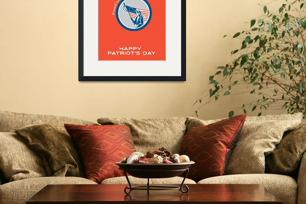 """""""Patriots Day Greeting Card American Patriot Soldie&quot  (2015) by patrimonio"""