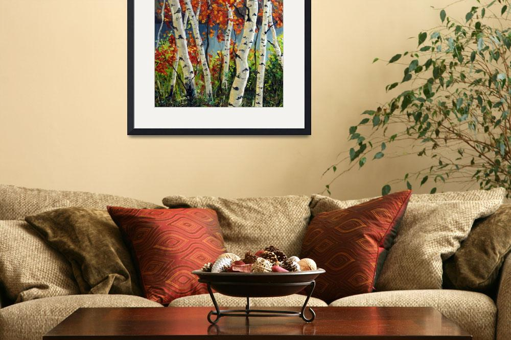 """""""Birch and Maple Trees""""  (2007) by TakeyceArt"""