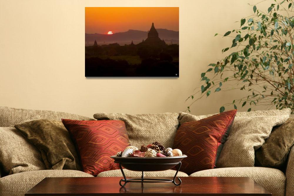 """Myanmar - Bagan Sunset""  (2011) by organicjerk"