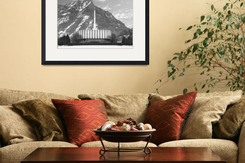 """""""Provo temple Large-16x22-BW&quot  by TerrySpringer"""
