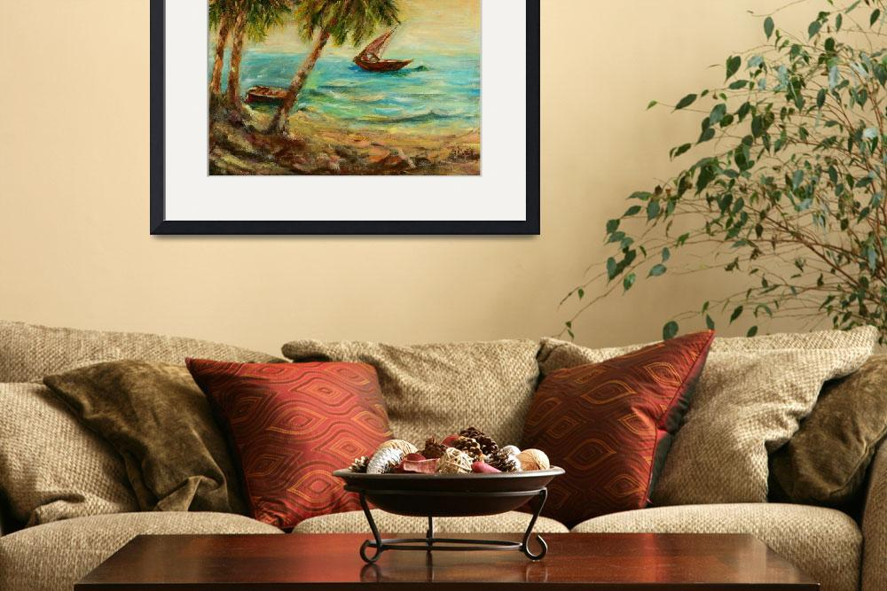 """""""Sail boats on Indian Ocean""""  by shernasser"""