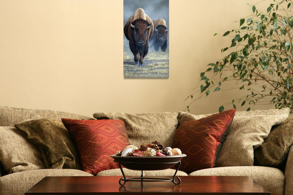 """""""Bison Brothers&quot  (2013) by hughestwinsart"""