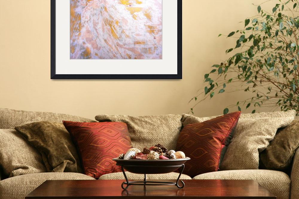 """""""65. Orange and White Abstract Canvas Print&quot  by maggieminordesigns"""