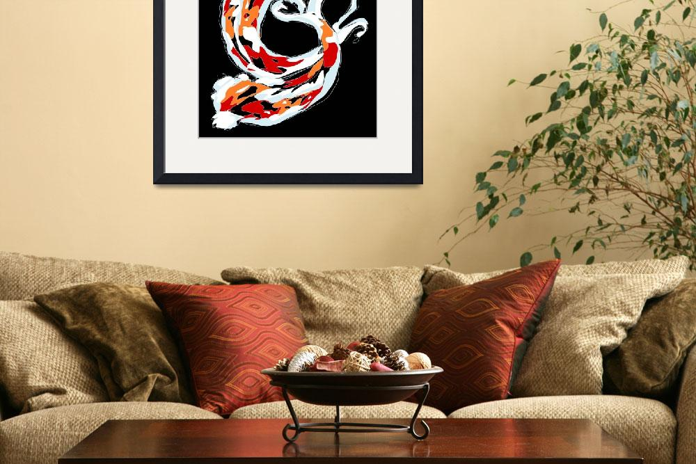 """2 Colorful Koi""  (2008) by kristensteinfineart"