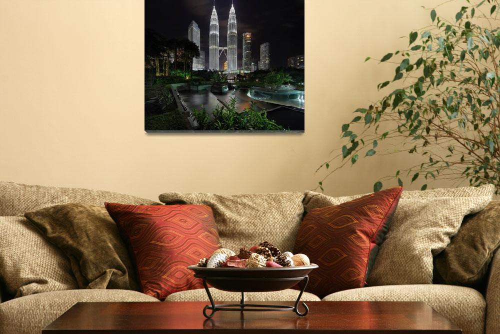 """""""The Petronas Twin Towers""""  (2012) by vedd"""