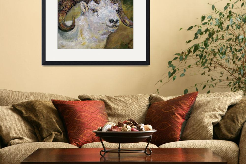 """""""Dall Sheep Ram Oil Painting by Ginette""""  (2006) by GinetteCallaway"""