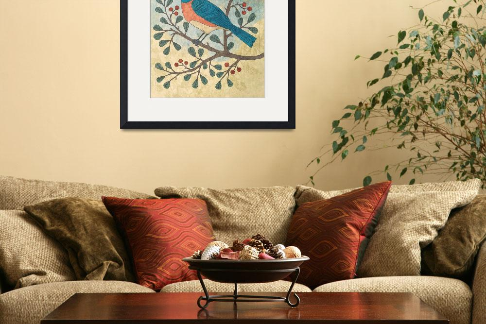 """""""Bluebird on Berry Branch&quot  (2014) by karynlewis"""