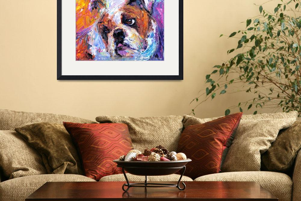 """Cute American English bulldog print&quot  by SvetlanaNovikova"