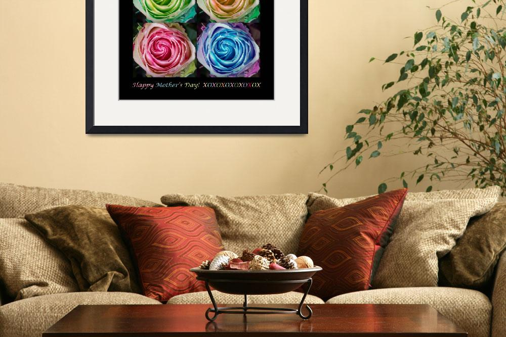 """""""Happy Mothers Day Hugs Kisses and Colorful Rose Sp&quot  (2013) by lightningman"""