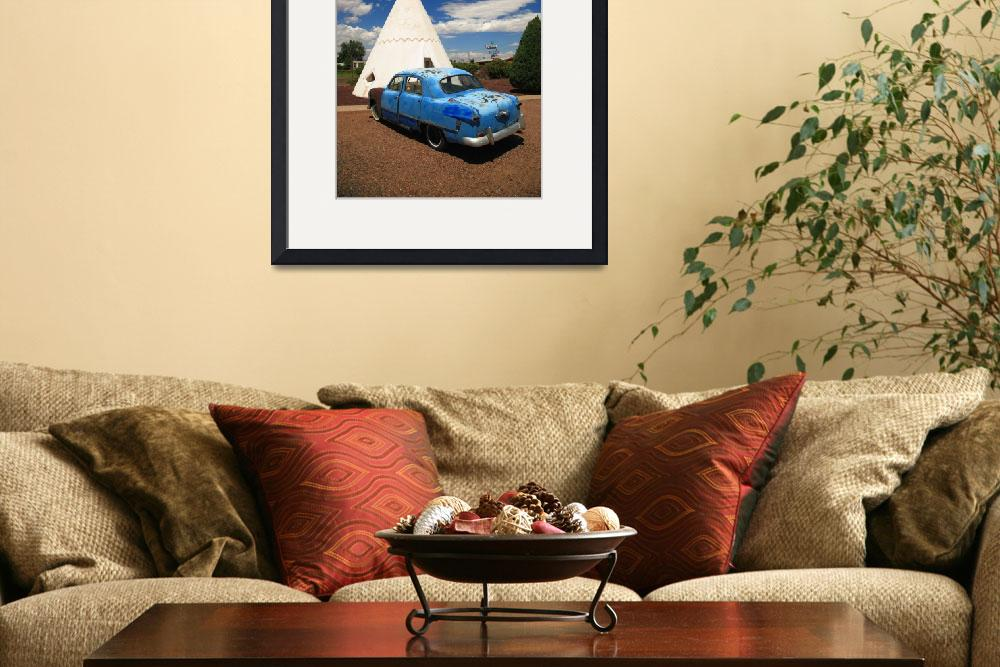 """Route 66 Wigwam Motel and Classic Car&quot  (2012) by Ffooter"