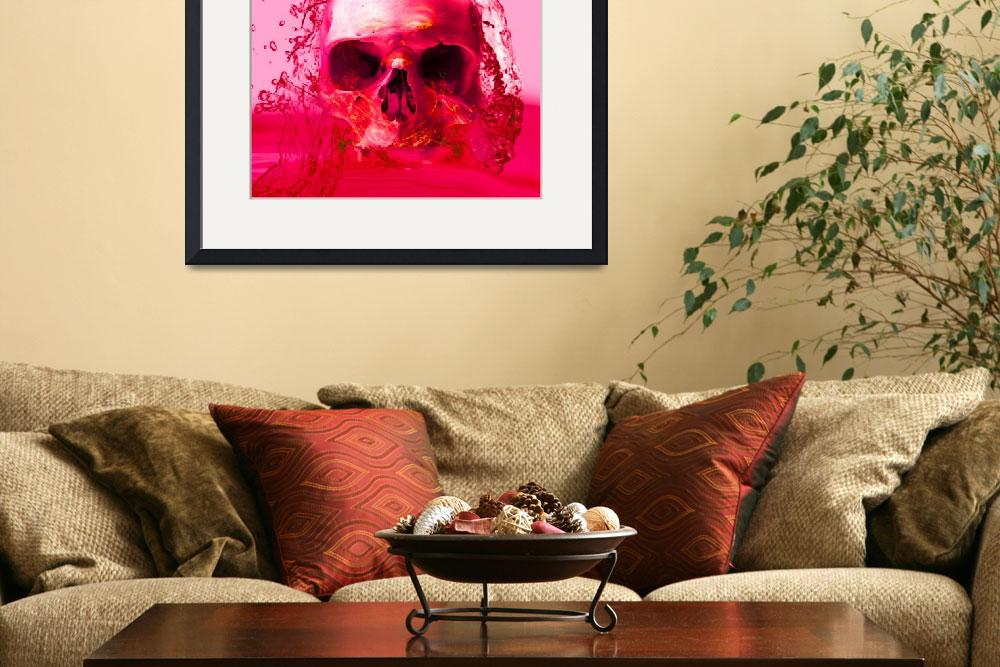 """""""RED SKULL IN WATER""""  (2014) by Icarusismart"""