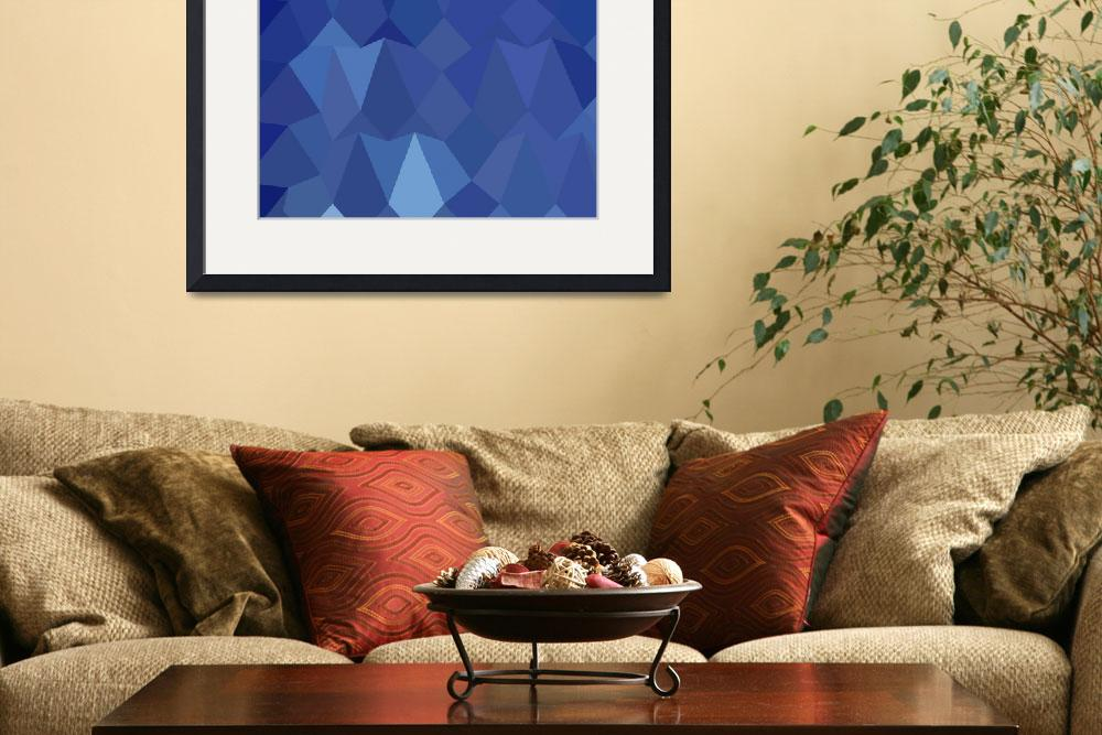 """""""Catalina Blue Abstract Low Polygon Background&quot  (2015) by patrimonio"""
