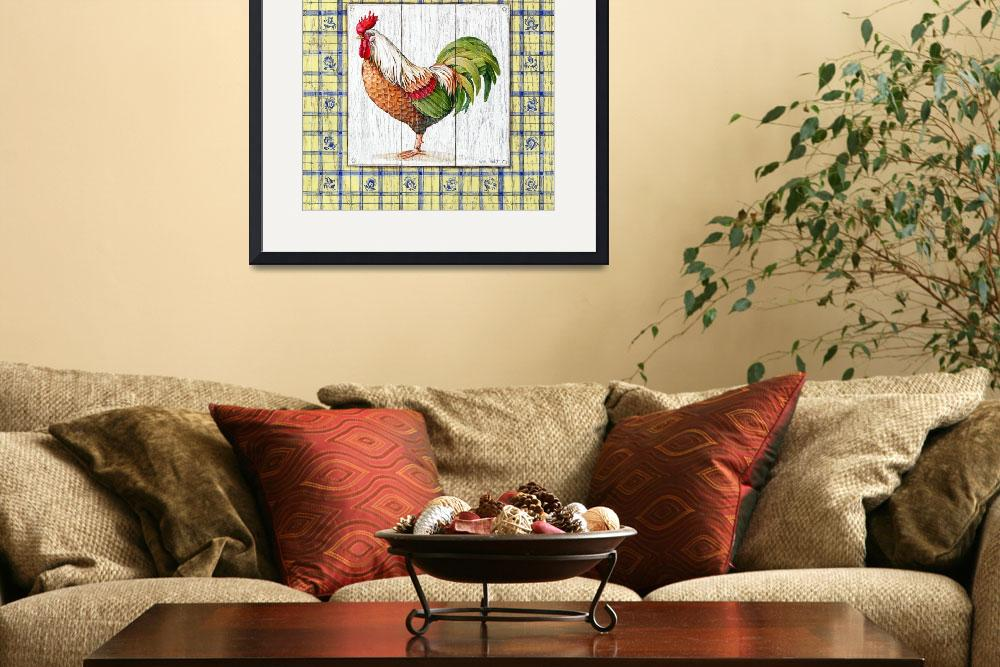 """""""Rustic Rooster II&quot  by artlicensing"""