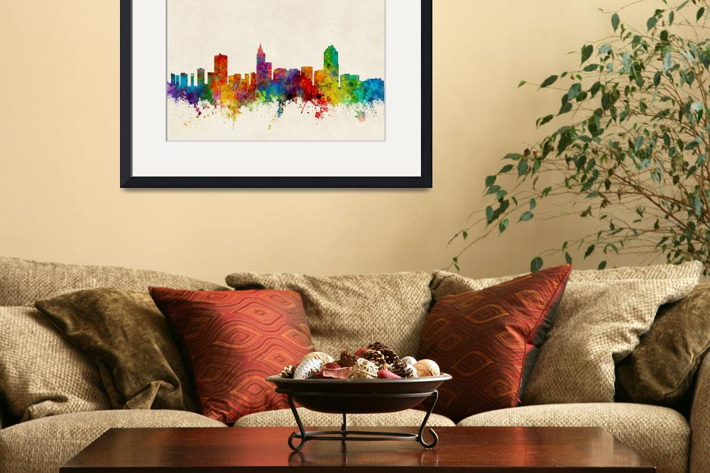"""Raleigh North Carolina Skyline&quot  (2015) by ModernArtPrints"