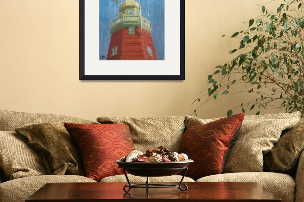 """""""Looking Up the Portland Observatory&quot  (2003) by dominicwhite"""