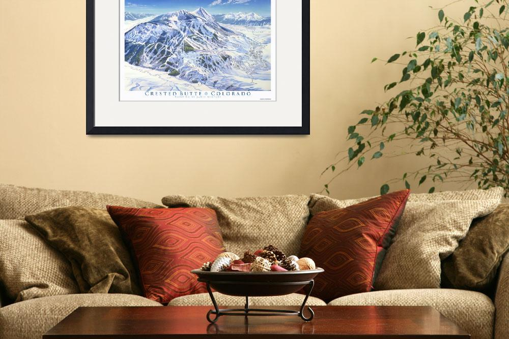 """""""CrestedButte&quot  (1999) by jamesniehuesmaps"""