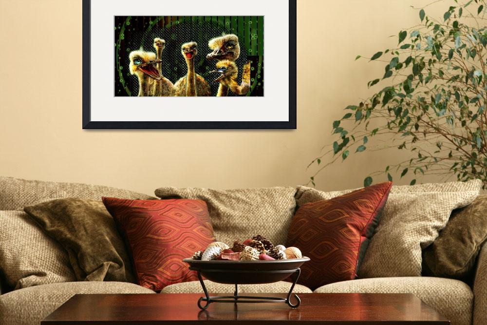 """""""Ostrich Clan&quot  (2015) by ecolosimo"""